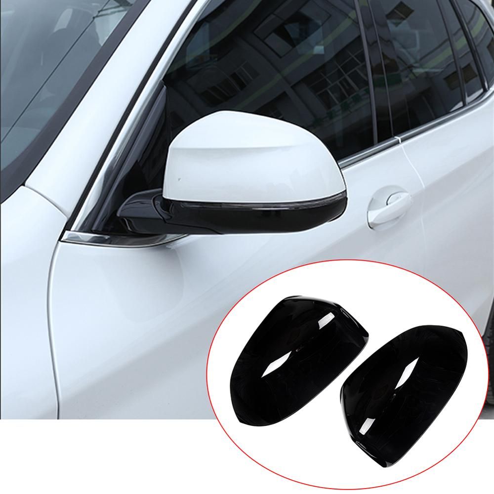 2pcs Glossy Black ABS Plastic Exterior Side Rearview Mirror Cap Cover Trim for <font><b>BMW</b></font> <font><b>X3</b></font> X4 <font><b>G01</b></font> G02 2018 2019 Models <font><b>Accessories</b></font> image
