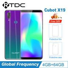 Cubot X19 5.93 ''Helio P23 Octa Core 18:9 FHD + 4GB + 64GB smartfon podwójny aparat 16.0MP 2160*1080 4000mAh 4G Face ID telefon komórkowy