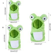 Funny Frog Shaped Birds Clothes Parrots Costume Cosplay Winter Pet Accessories 4XFA