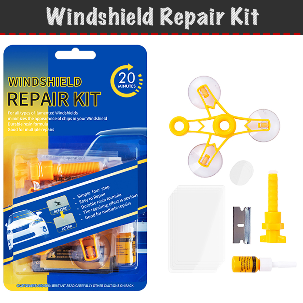 Set of tools for repair chips and cracks auto glass windshield repair kit, repair kit, repair with your own hands in 20 minutes