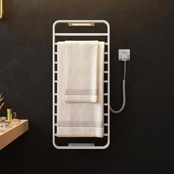 Wyposażenie łazienki elektryczny podgrzewany wieszak na ręcznik suszarka na ręczniki stalowy wieszak na ręczniki ze stali nierdzewnej Sterylizujący inteligentny wieszak na ręczniki 105 tanie i dobre opinie ZIZI STAINLESS STEEL Fasion Naprawiono uchwyt na ręcznik kąpielowy CN (pochodzenie) Galwaniczne Wieszaki na ręczniki