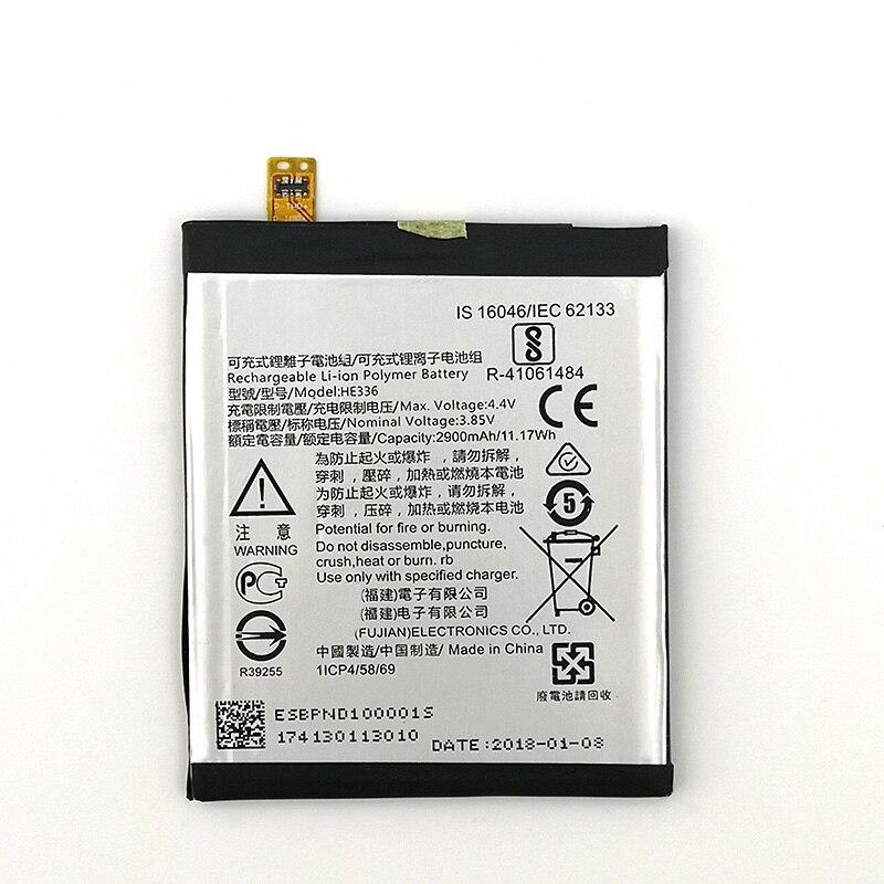 100% batterie dorigine HE336 HE321 2900mAh pour Nokia 5 double SIM (TA-1053 DS) nouvelle Production batterie de haute qualité + numéro de suivi
