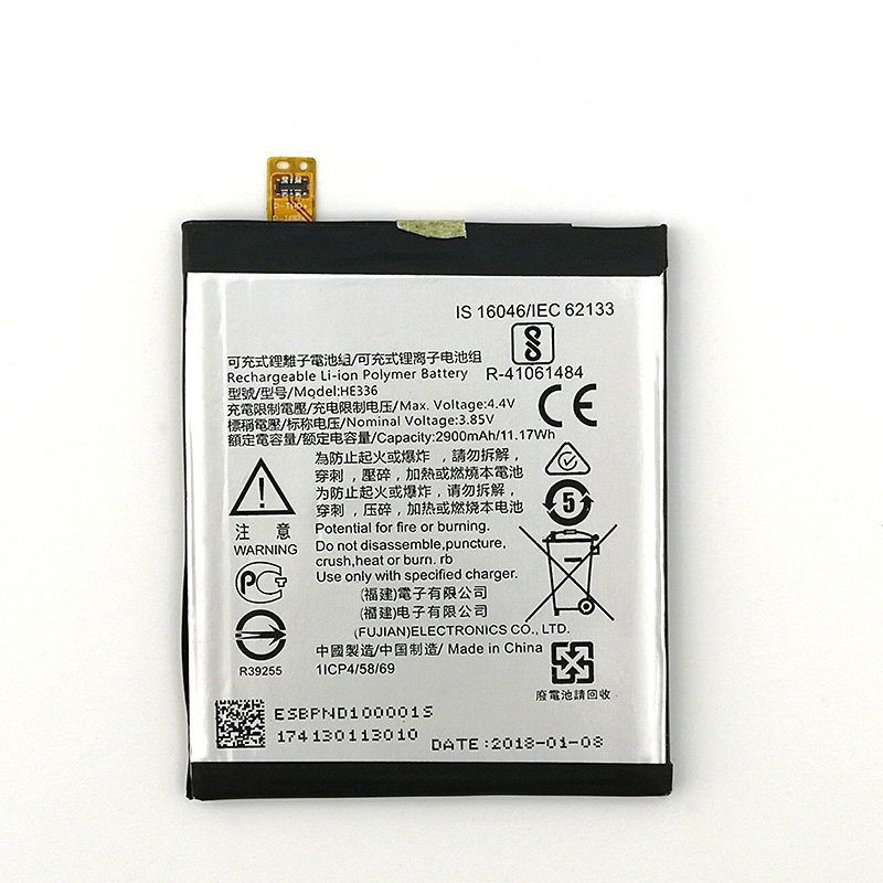 100% Original HE336 HE321 2900mAh Battery For <font><b>Nokia</b></font> <font><b>5</b></font> Dual SIM (<font><b>TA</b></font>-<font><b>1053</b></font> <font><b>DS</b></font>) New Production High quality battery+Tracking number image