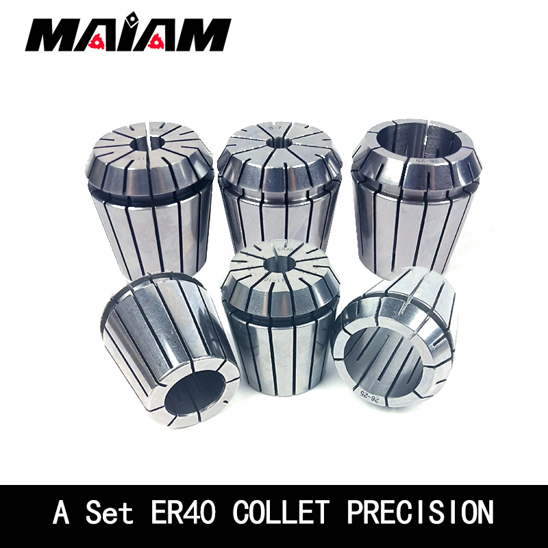 a set er40 <font><b>collet</b></font> precision 0.008 er40 <font><b>chuck</b></font> 3-26mm 3mm 4mm 6mm <font><b>8mm</b></font> 10mm 12mm 16mm 18mm ER <font><b>collet</b></font> <font><b>chuck</b></font> for CNC Tool and holder image