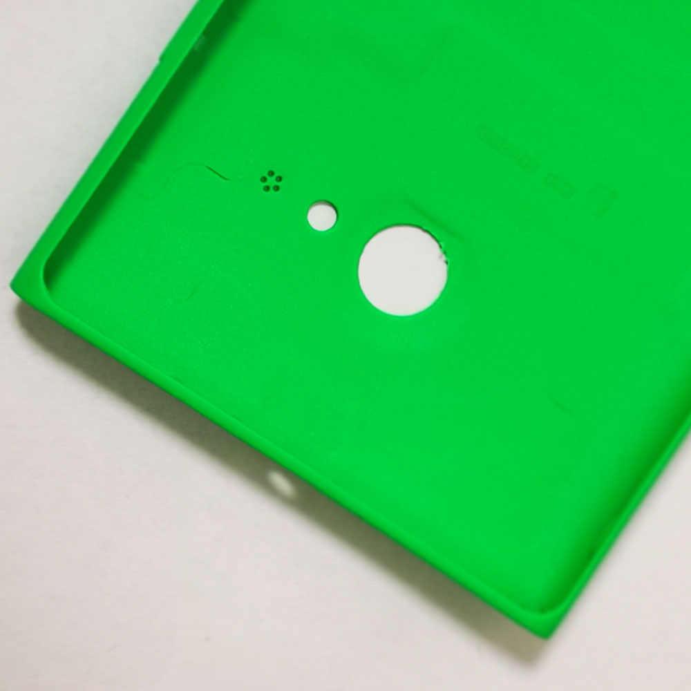 NUEVA cubierta trasera para Nokia Lumia 730 735 carcasa de batería con botón lateral de volumen de alimentación con logo