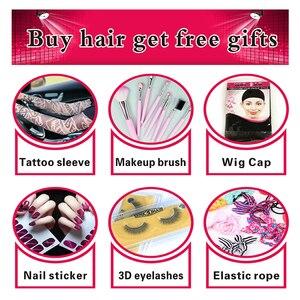 Image 5 - Bling Saç 360 Dantel Frontal Kapatma Brezilyalı Remy İnsan Saç Sarışın 613 Frontal Düz Saç Kapatma Ile Bebek Saç Ücretsiz parça