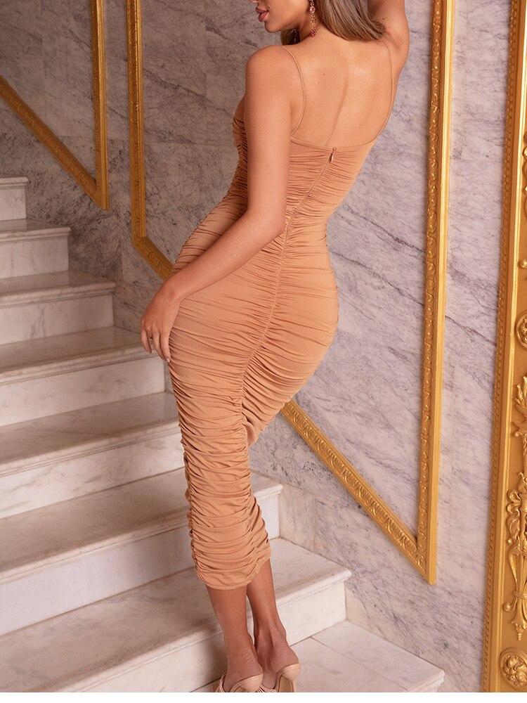 He9cb8b25107f45349f7384845c9fb2ddK - NewAsia 2 Layers White Summer Dress Women 2020 Elegant Straps Ruched Maxi Dress Pink Long Dress Sexy Dresses Party Night Robe