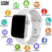 44mm Smart Watch Series 4 Clock Push Message Bluetooth Connectivity For IOS apple iPhone 6 7 8 X Smartwatch iwo 10 Android phone цена и фото