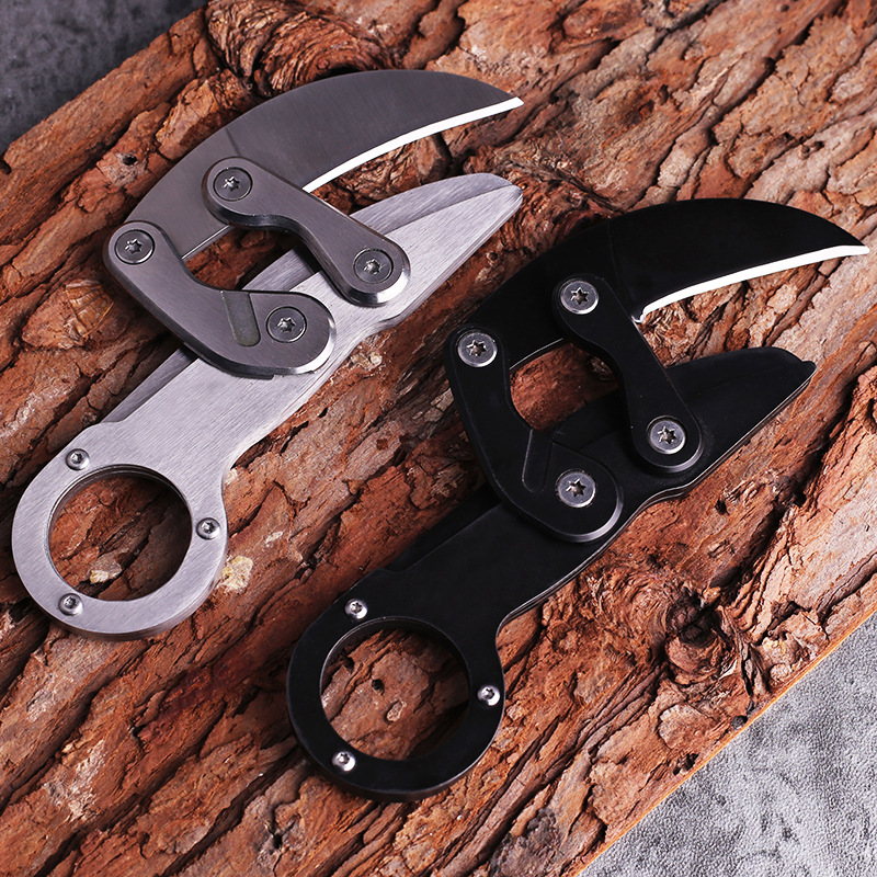 CS Caswell Original Outdoor Survival Tactical Mechanical Claw Paw Folding Morphing Karambit EDC Tools Camping Cutting Rope Knife