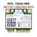 Intel Dual Band Wireless-AC 7260 intel 7260HMW intel 7260AC 7260HMW 7260AC half Mini PCI-e bluetooth беспроводной Wi-Fi 867M + 4.0BT