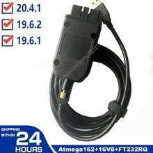Vag com 20.4.1 vagcom 19.6.2 hex v2 interface usb para vw audi skoda seat vag 20.4.2 multi-linguagem atmega162 + 16v8 + ft232rq