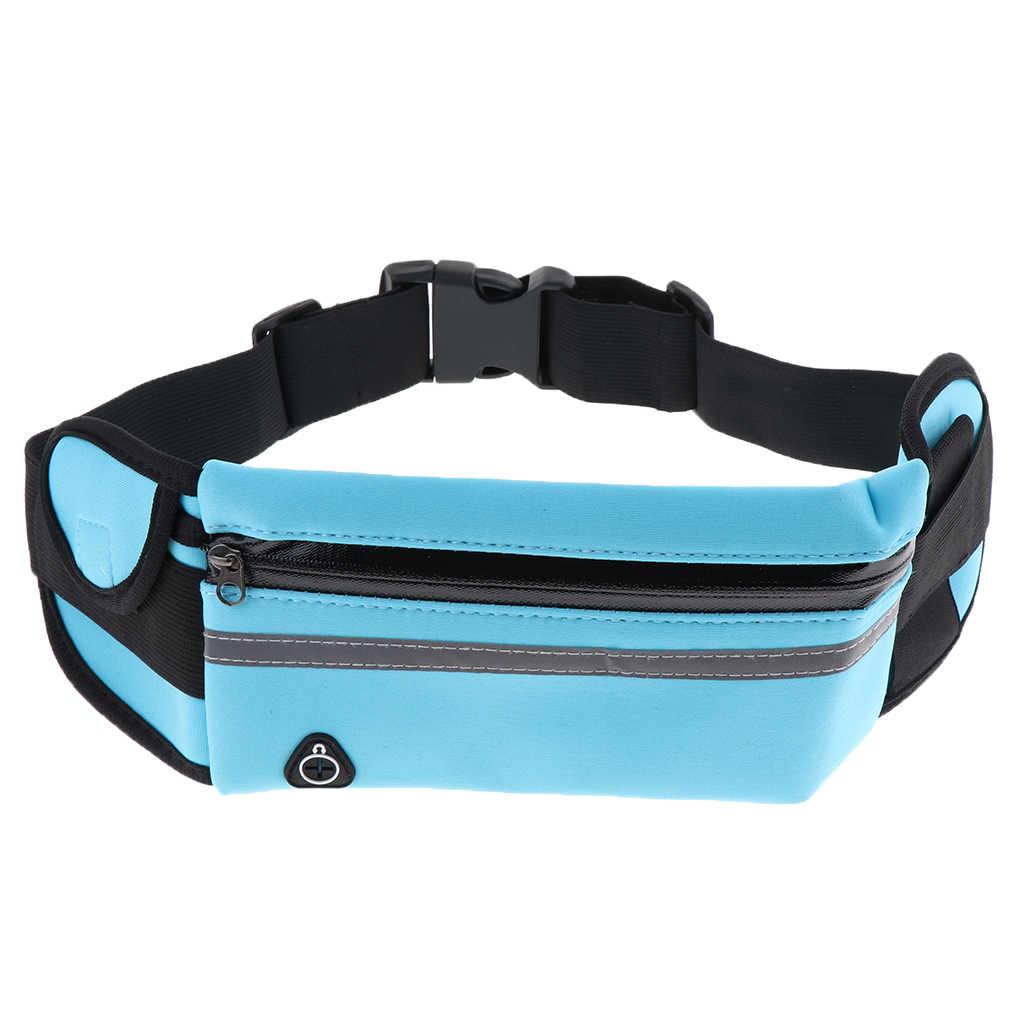 Neoprenowy odblaskowy pas do ćwiczeń Jogging kolarstwo talia torba typu worek W/uchwyt na butelkę wody pas do ćwiczeń na świeżym powietrzu