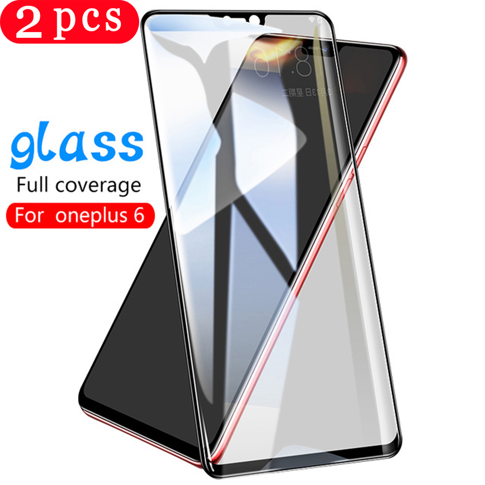 2Pcs for <font><b>oneplus</b></font> 7 7T pro tempered glass full cover phone screen protector <font><b>6</b></font> 6T 5 5T protective film <font><b>smartphone</b></font> on the glass image