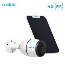 Reolink — Caméra de surveillance extérieure solaire IP 4G (Modèle GO), avec panneau solaire et batterie, emplacement pour carte SIM et technologie Starlight