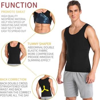 Men Neoprene Sweat Sauna Vest Body Shapers Vest Waist Trainer Slimming Tank Top Shapewear Corset Gym Underwear Women Fat Burn 3
