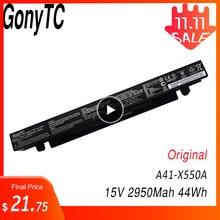 Batteria originale di A41 X550a di GONYTC 15V 44Wh 2950mAh per la batteria del computer portatile dello li ione di Asus A41 X550 X550C A450 A450C A450L A450LB