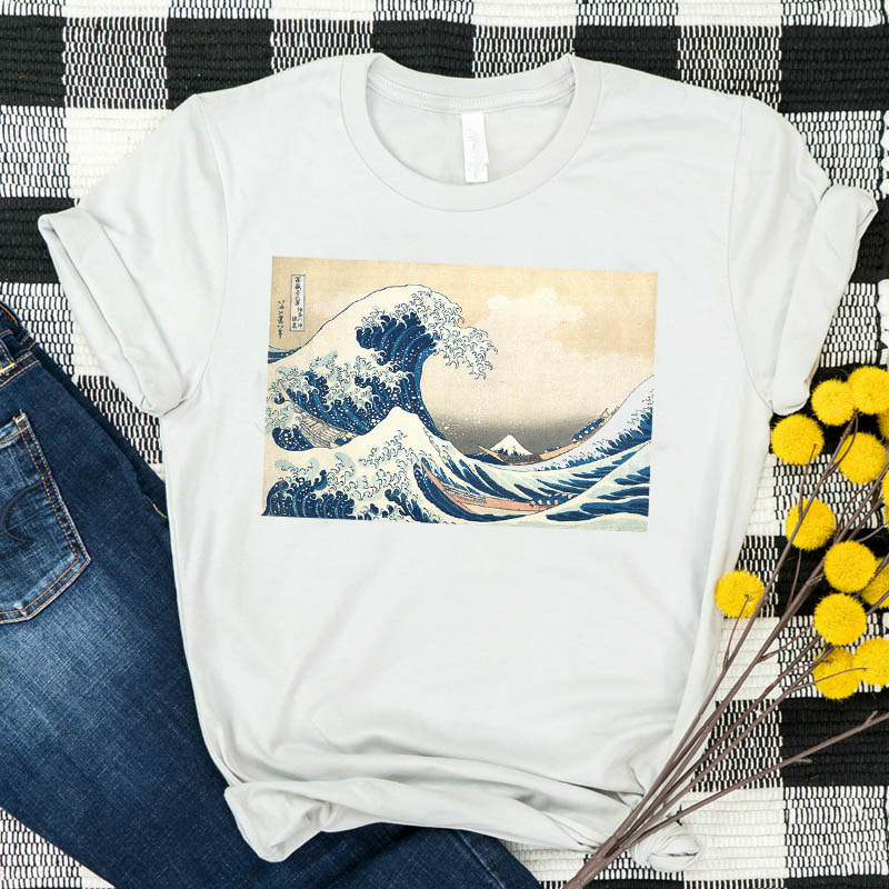 So It Is Ocean The Great Wave Women T Shirt Cartoon Movie Summer Tshirt Tees Printed Graphic Top Kawaii Short Sleeve T-shirt