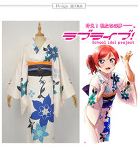 Anime Lovelive Aqours Nishikino Maki Summer yukata kimono Halloween Christmas cosplay Uniform for woman(China)