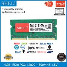 цена на SHELI 4GB 1RX8 DDR3-12800 PC3 1600Mhz 1.5V SODIMM RAM Laptop Memory