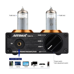 Image 2 - AIYIMA HiFi Vacuum 6A2 Tube MM Phono Preamplifier Vinyl Record Player Stereo Tube Preamp Amplifier Turntable Phonograph DIY 12V