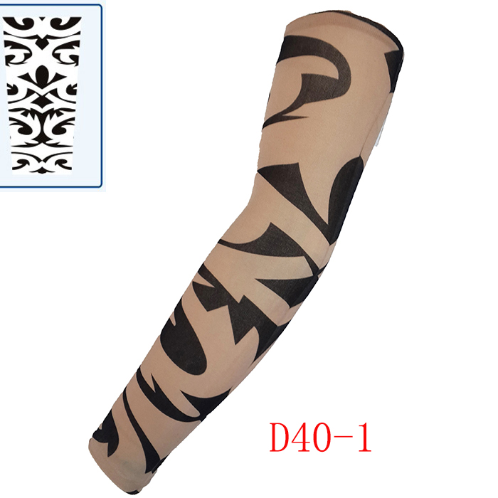 Kasure 1pc Outdoor Cycling Printed  Fake Tattoo Arm Sleeves Sunscreen CuffUnisex Arm UV Protection Hip Hop Punk Slip On Tattoo
