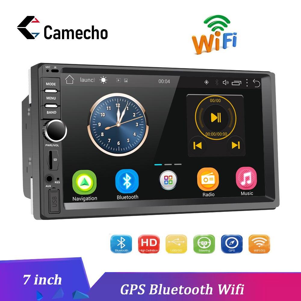 Camecho 2 Din Android gps навигация автомобиля Радио Стерео 7 сенсорный экран Универсальный Автомобильный плеер Wifi Bluetooth USB аудио