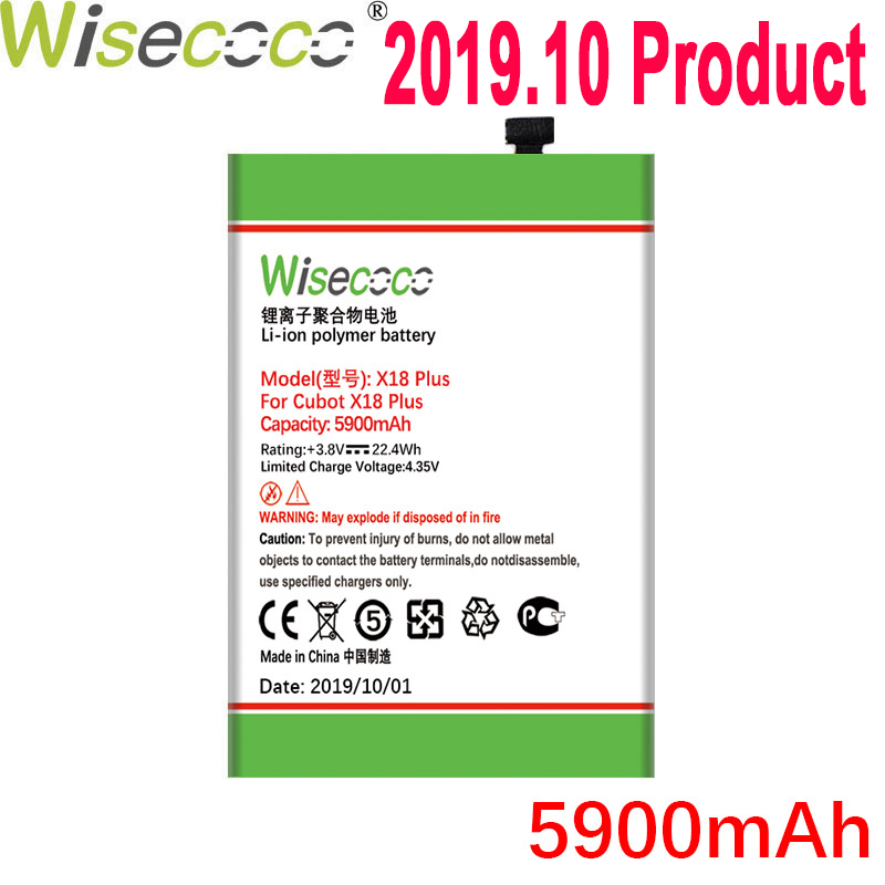 WISECOCO 5900mAh <font><b>Battery</b></font> For <font><b>Cubot</b></font> <font><b>X18</b></font> Plus Mobile Phone In Stock Latest Production High Quality <font><b>Battery</b></font>+Tracking Number image