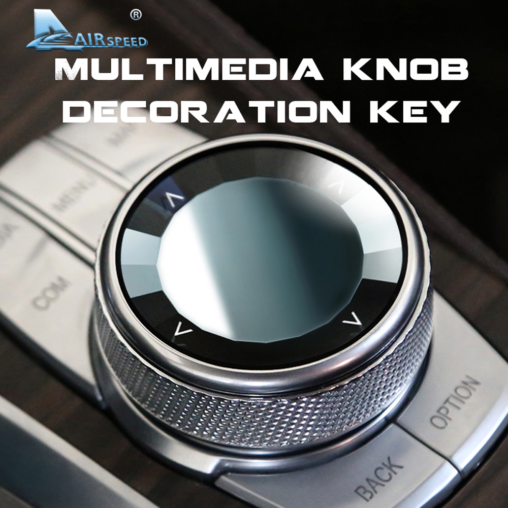 Car Multimedia Button Knob Cover for BMW F10 F18 F20 F21 F30 F35 F80 F32 F33 F22 F23 F25 F15 F85 F16 F86 F48 F46 Accessories