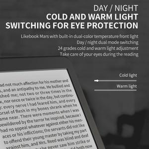 Image 4 - Likebook mars 7.8 Polegada leitor de ebook hd ereader 300ppi 2g + 16g octa core com tela sensível ao toque 3.5mm suporte de interface wifi bt