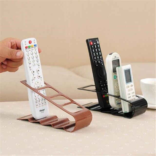 19x7.5x9cm TV/DVD/VCR Organiser 4 Frame Remote Control Storage Practical Mobile Phone Holder Stand Iron White Organizer Case