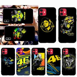 NBDRUICAI Valentino Rossi VR 46 Number Soft black Phone Case for iPhone 11 pro XS MAX 8 7 6 6S Plus X 5S SE 2020 XR case(China)