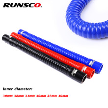 Id 30 32 34 36 38 40mm Silicone Flexible Hose Radiator Tube Air Intake High Pressure Rubber Joiner Pipe For BMW