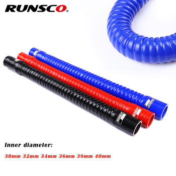 Id 30 32 34 36 38 40mm Silicone Flexible Hose Radiator Tube Air Intake High Pressure Rubber Joiner Pipe For BMW image