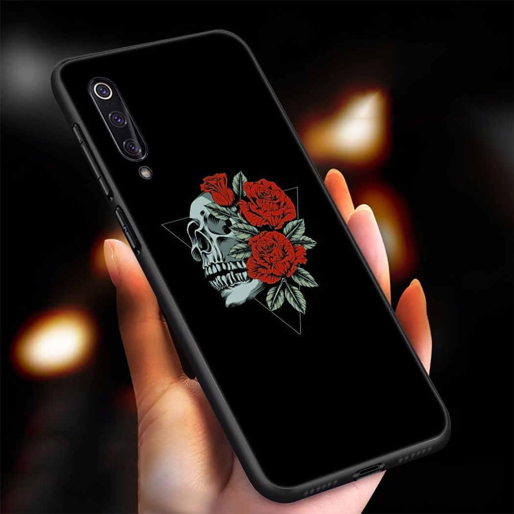 שחור לבן רוז פרח אמנות רך סיליקון מקרה עבור שיאו mi mi A3 פרו A2 לייט A1 5X 6X מקסימום 3 mi x 2S F1 TPU כיסוי