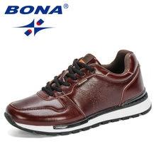 BONA – baskets en cuir pleine fleur pour hommes, chaussures de loisirs, de créateurs populaires, à la mode, nouvelle collection 2020