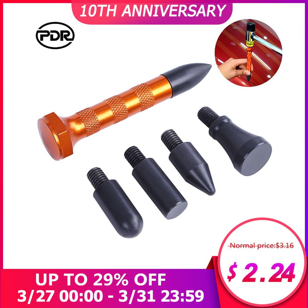 PDR Flattening Pen With 5pcs Heads Tap Down Pen Car Body Dent Removing Dents Tool Car Paintless Dent Repair удаление вмятин