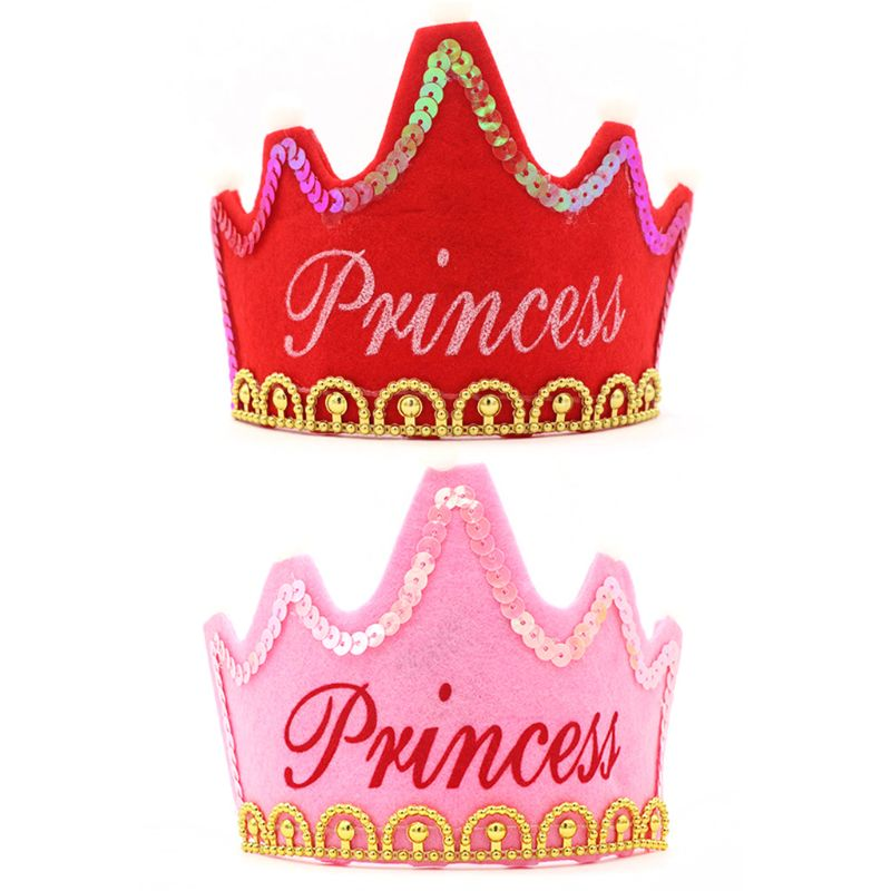 Baby Shower Princess Gold Crowns Foam Party Decorations It's A Girl Favors Glowing Crown Birthday Hat 24BE