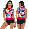 Zippered Front Sports One Piece Swimsuit 19