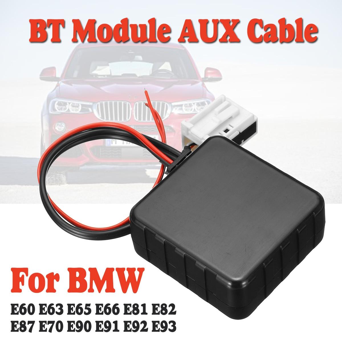 12 В Автомобильный bluetooth 5,0 Модуль AUX кабель адаптер аудио Радио Стерео AUX IN для BMW E60 E66 E70 E82 E87 E90 E92|Автомобильный комплект Bluetooth|   | АлиЭкспресс