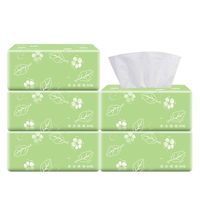 300pcs/Bag 3 Layers Toilet Paper Bath Tissue Wood Pulp Paper Towel Household Paper Towels Baby Tissues Facial Tissue Paper