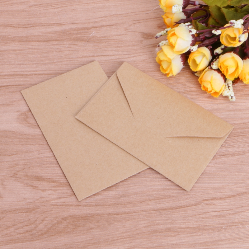 50pcs/lot Craft Paper Envelopes Vintage European Style Envelope For Card Scrapbooking Gift 6