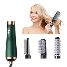 3 in 1 Hair Dryer & Hair Straightener & Hair Curler Volumizer Salon Hot Air Paddle Styling Brush Negative Ion Generator Curler