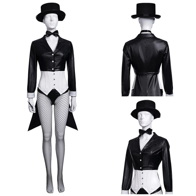Superheroes The Magician Zatanna Zatara Cosplay Costume Outfits Halloween Carnival Suit