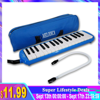 Aiersi 32 Key Melodica Piano Style Melodica Keyboard Musical Accordions Instrument with Carrying Bag Strap Mouthpiece
