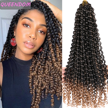 Long Passion Twist Braiding Crochet Hair Extensions Water Wave Crochet Braids Pre Twisted Synthetic Bohemian Hair Ombre Blonde