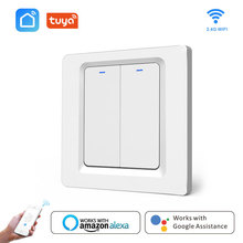 WiFi Smart Switch touch screen 220V EU Bedroom/wall lights 1 2 3 Gang APP remote control Switch Use Alexa voice control IFTTT wifi smart home switch ac 110v 220v 3 way wall light remote control app voice amazon alexa switch home screen eu standard ds35