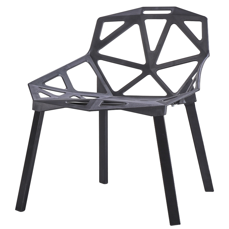 Chair Modern Simple Lazy Family Northern Europe Dining Chair Creative Geometric Hollow Plastic Backrest Individual Art Fashion