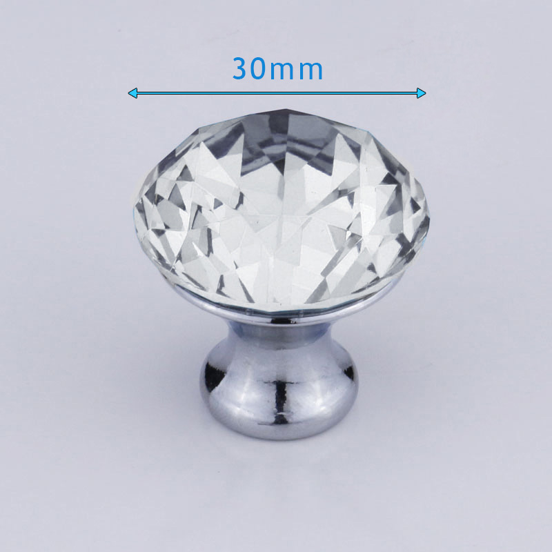4/6/8/12/16 Pcs/Set Furniture Handle With Screw Clear Crystal Glass Door Knobs For Drawer Cupboard Cabinet Wardrobe DIN889