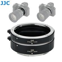 JJC 11 مللي متر 16 مللي متر التلقائي تمديد عدسة أنبوب مجموعة ل نيكون Z جبل Z5 Z7 Z6 Z50 كاميرا محول العدسة حلقة مع غطاء عدسة الجسم