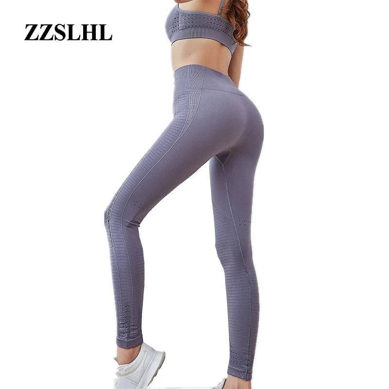 Women Seamless Leggings Gym High Waist Push Up Sports Fitness Stretch Yoga Pants